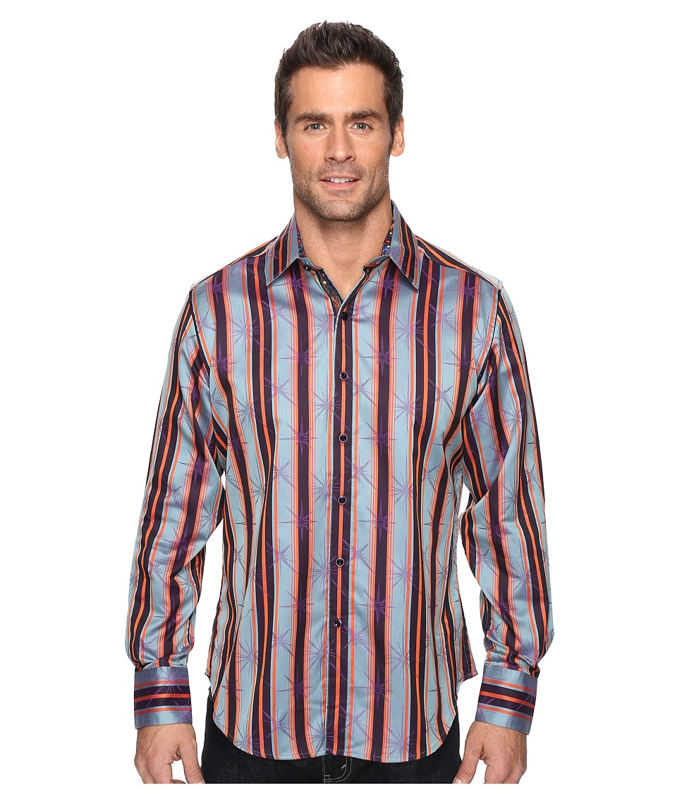 Robert Graham - Ornaments Long Sleeve Woven Shirt (Orange) Men's Clothing