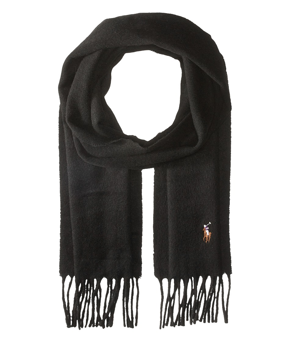 Polo Ralph Lauren - Signature Cashmere Scarf (Polo Black) Scarves