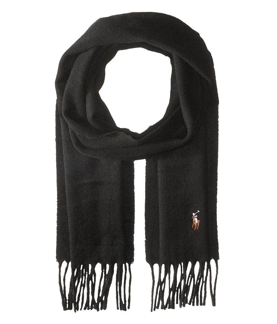 Polo Ralph Lauren - Signature Cashmere Scarf (Polo Black) Scarves