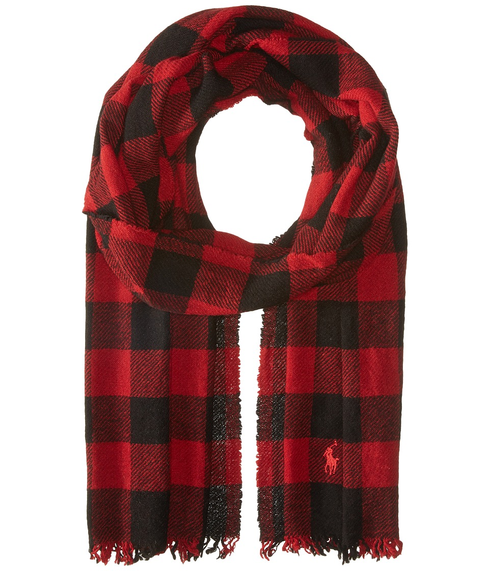 Polo Ralph Lauren - Vintage Cashmere Plaids (Red Holiday Check) Scarves