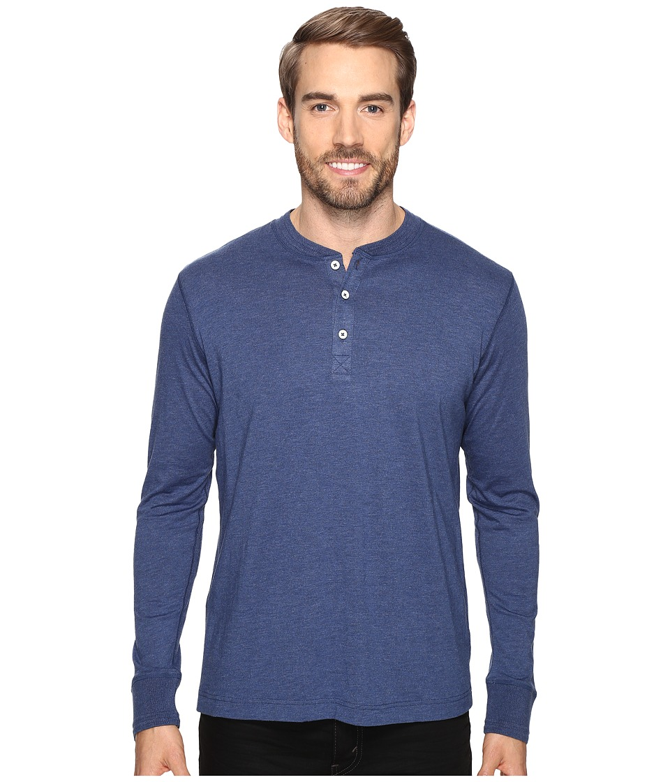 Robert Graham - Danieli Henley (Heather Navy) Men's Clothing