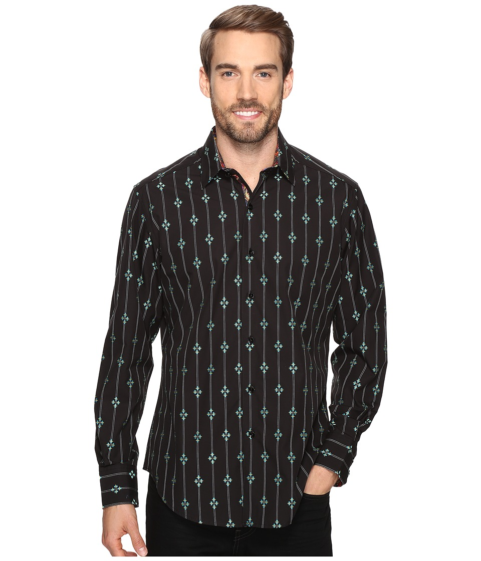 Robert Graham - Jace Long Sleeve Woven Shirt (Brown) Men's Clothing
