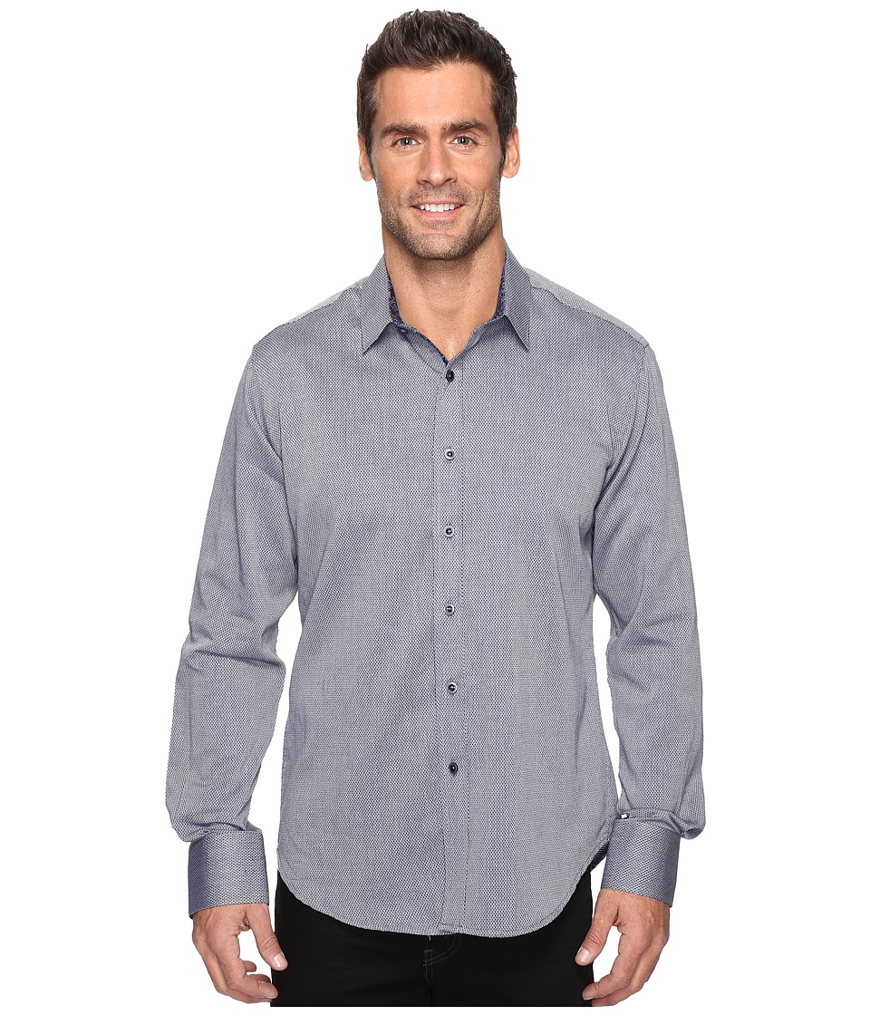 Robert Graham - Boden Long Sleeve Woven Shirt (Navy) Men's Clothing