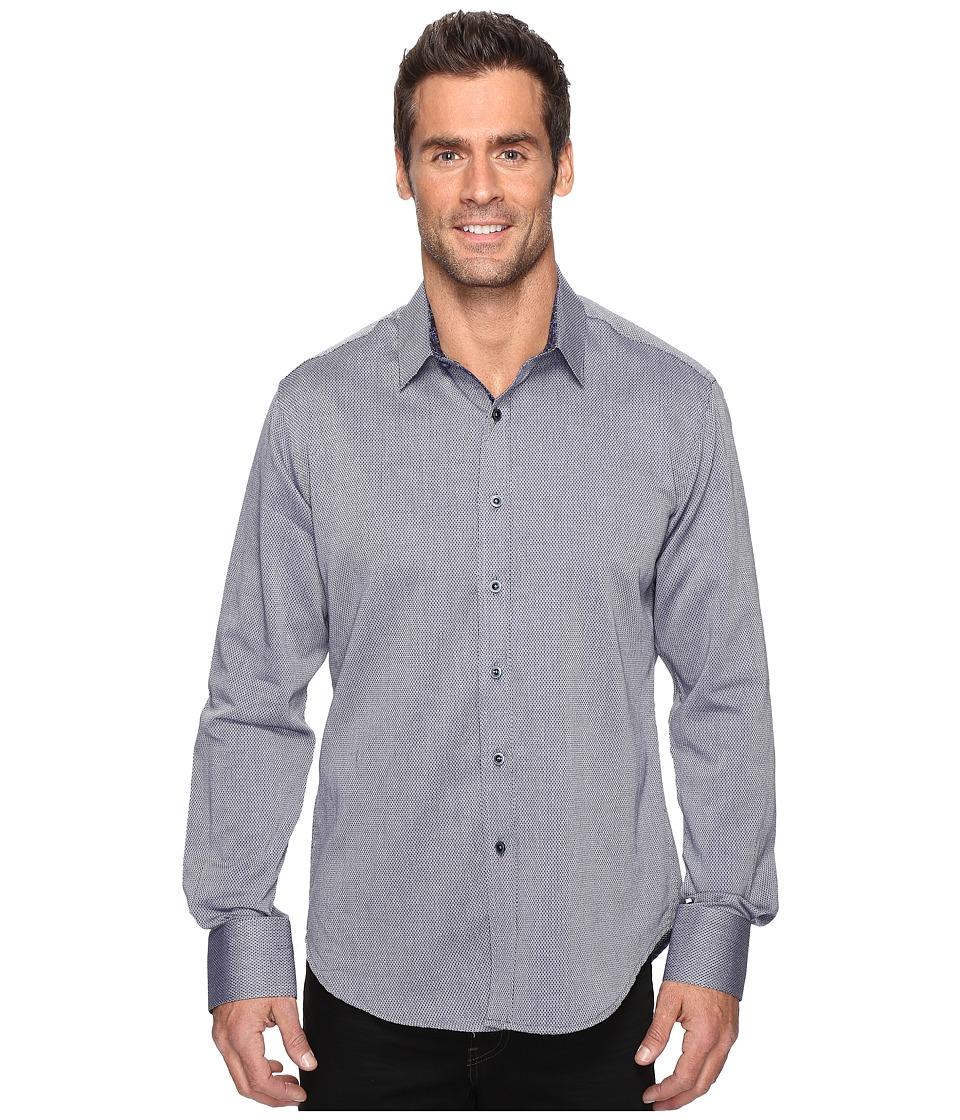 Robert Graham - Boden Long Sleeve Woven Shirt (Navy) Men's Clothing