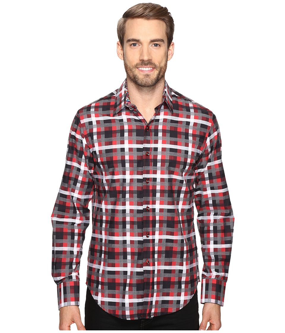Robert Graham - Lido Long Sleeve Woven Shirt (Red) Men's Long Sleeve Button Up