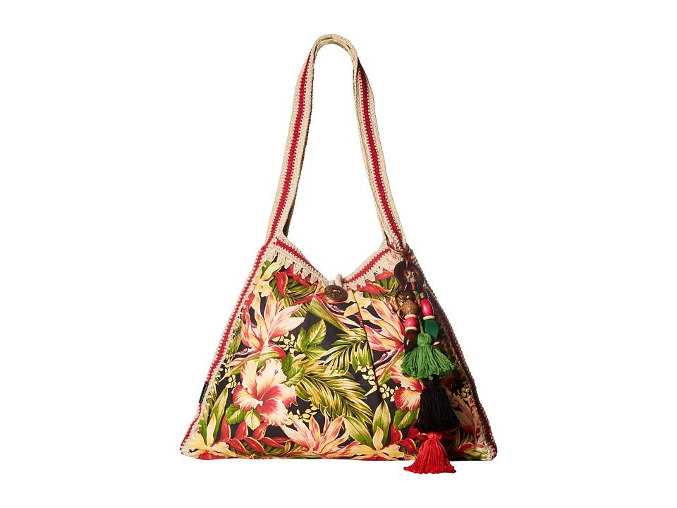 Patricia Nash - Gerona Canvas Resort Tote (Cuban Tropical Black) Tote Handbags