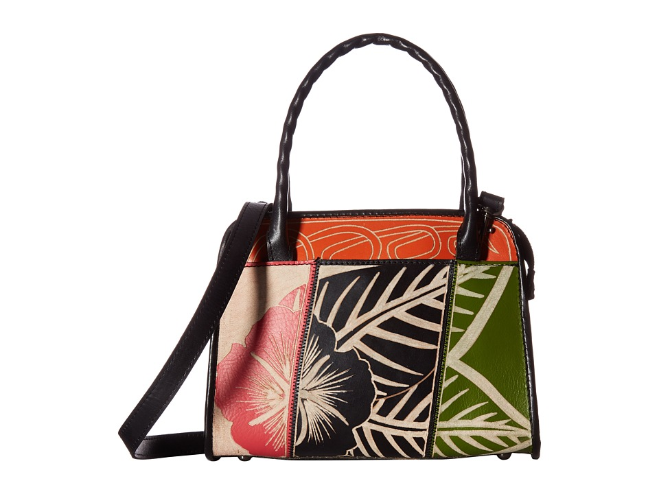 Patricia Nash - Paris Satchel (Black Multi Floral) Satchel Handbags