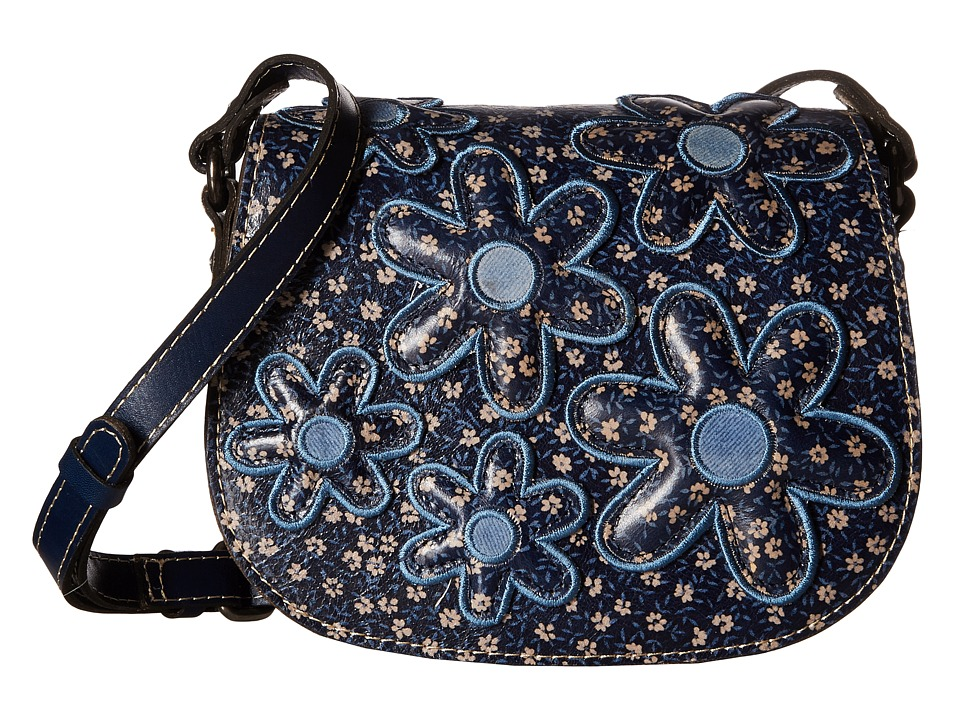 Patricia Nash - Salerno Saddle Bag (Denim Daisies) Handbags
