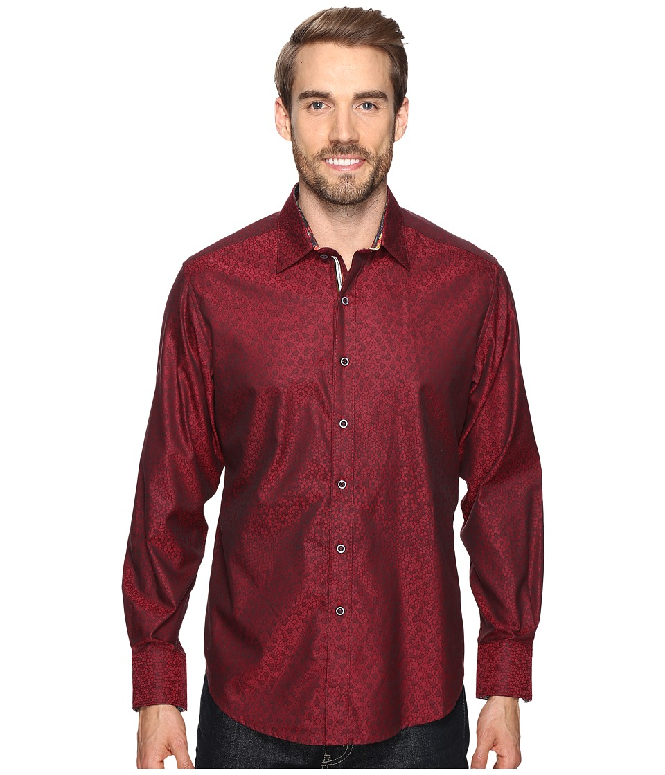 Robert Graham - Basilio Long Sleeve Woven Shirt (Red) Men's Long Sleeve Button Up