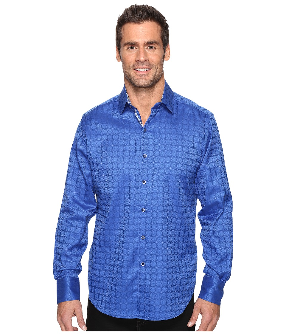 Robert Graham - Rialto Long Sleeve Woven Shirt (Blue) Men's Long Sleeve Button Up