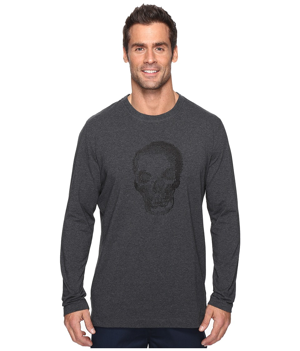 Robert Graham - Bandits Long Sleeve Knit T-Shirt (Charcoal) Men's T Shirt