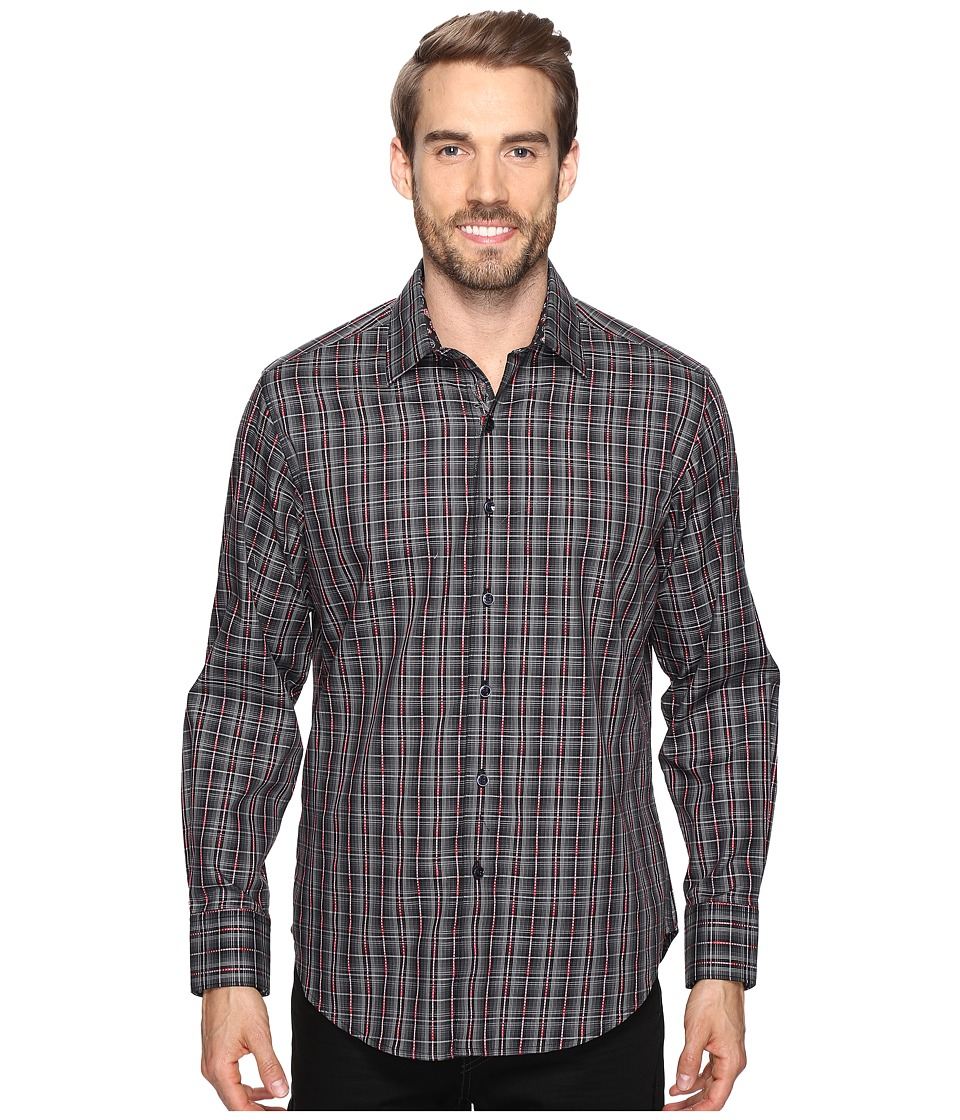 Robert Graham - Lando Long Sleeve Woven Shirt (Charcoal) Men's Long Sleeve Button Up