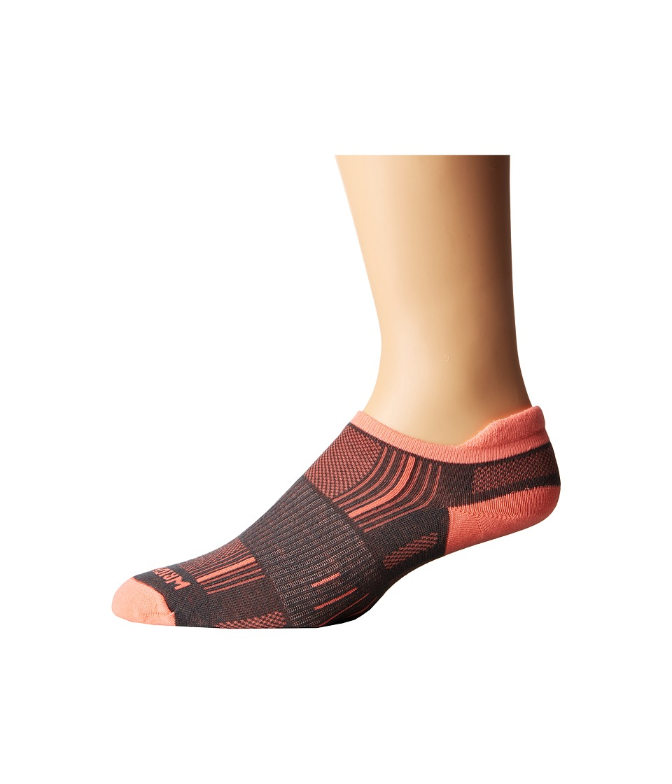 Wrightsock - Stride Tab (Ash/Coral) Low Cut Socks Shoes