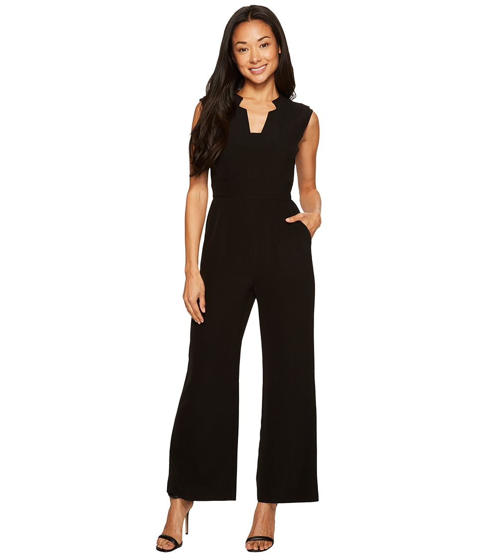 Tahari by ASL Petite - Petite Wideleg Jumpsuit (Black) Women's Jumpsuit & Rompers One Piece