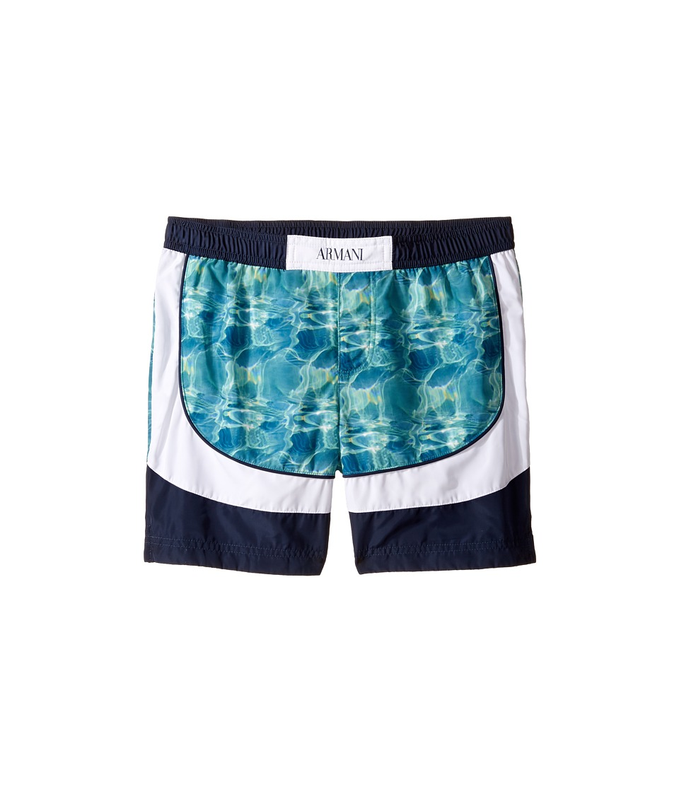 Armani Junior - Digital Water Printed Swimsuit (Toddler/Little Kids/Big Kids) (Fancy Green) Boy's Swimwear