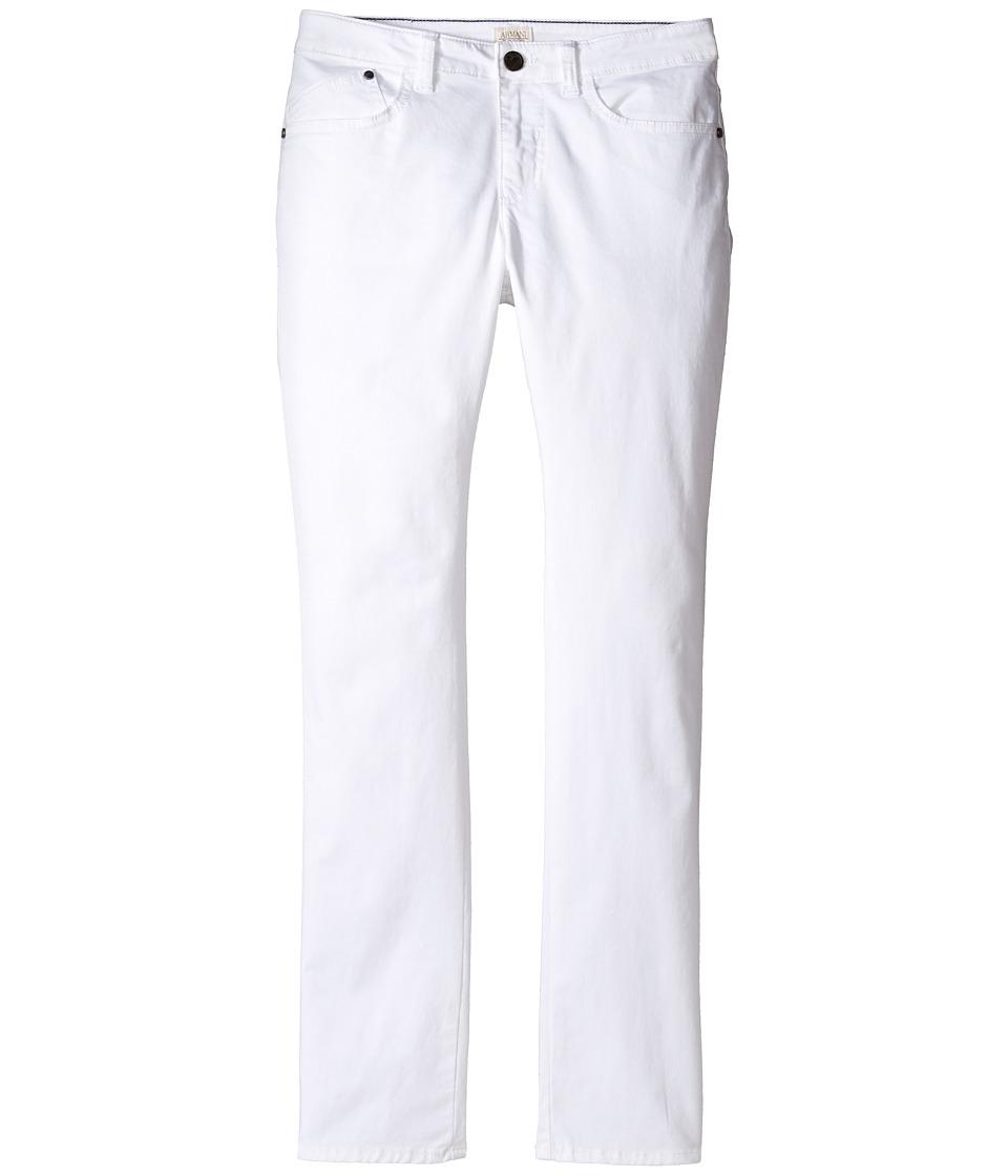 Armani Junior - Stretch Cotton Five-Pocket Pants (Toddler/Little Kids/Big Kids) (Solid White) Boy's Casual Pants
