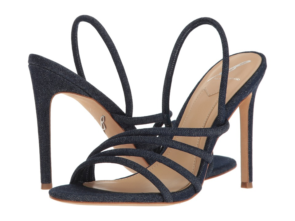 B Brian Atwood Fifi Denim Shoes
