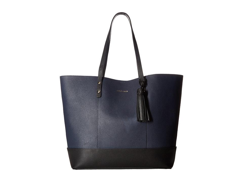 Cole Haan - Bayleen Tote (Blazer Blue/Black) Tote Handbags
