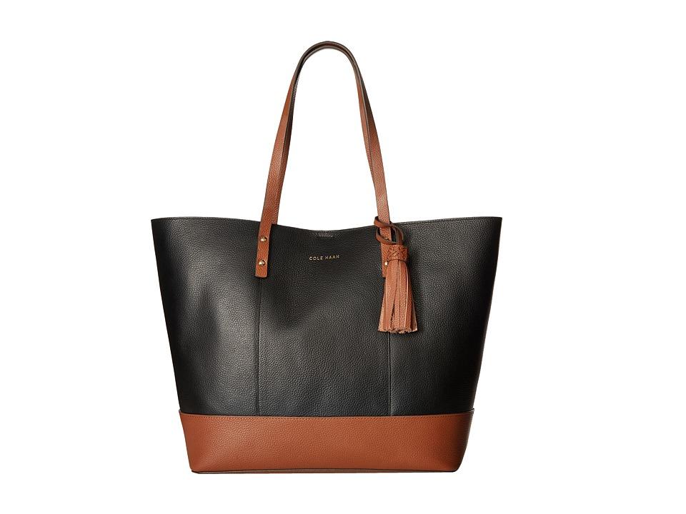 Cole Haan - Bayleen Tote (Black/Woodbury) Tote Handbags