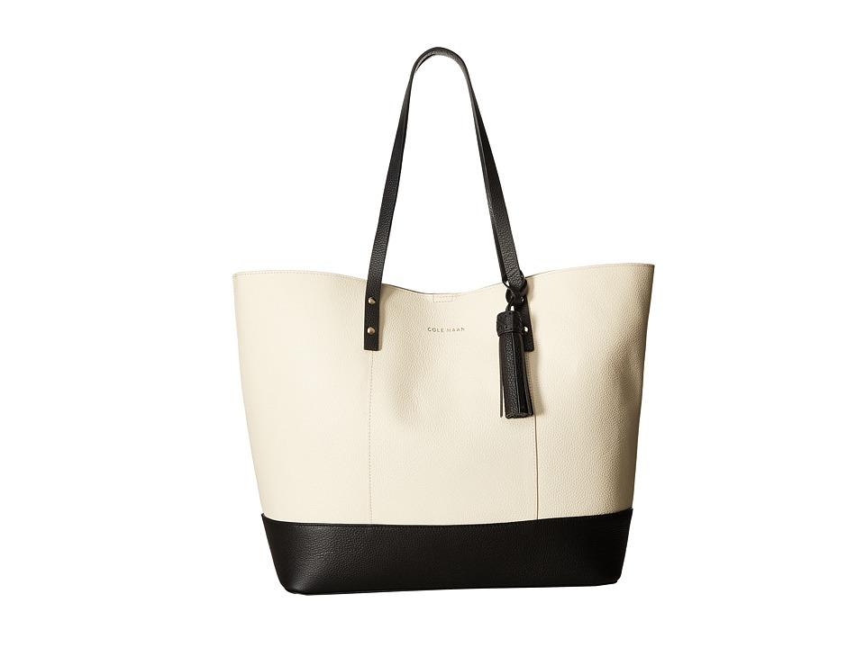 Cole Haan - Bayleen Tote (Ivory/Black) Tote Handbags
