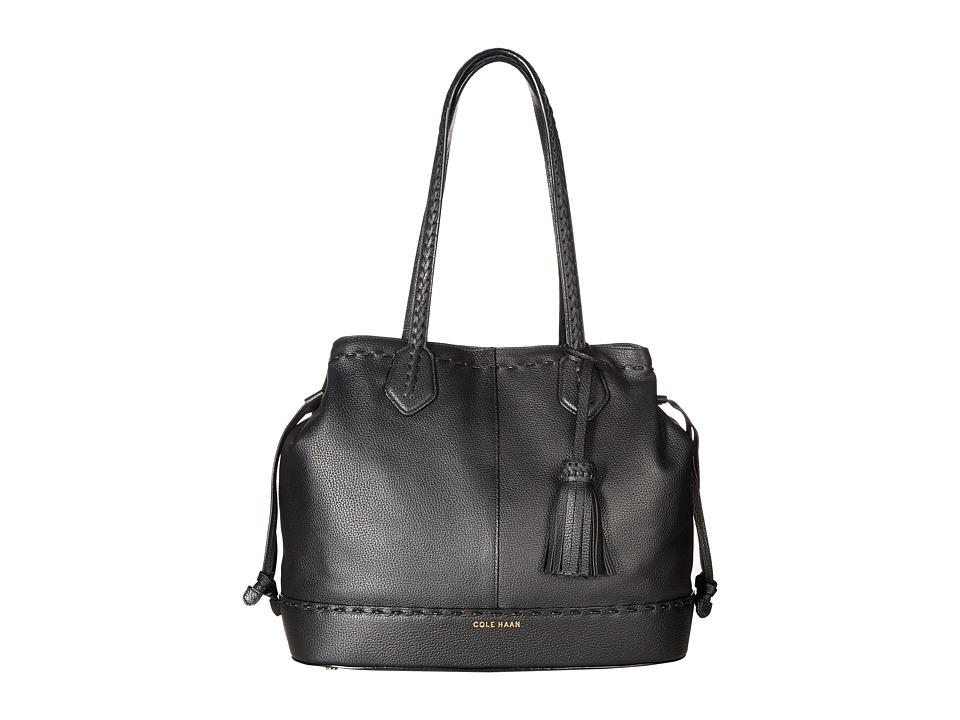 Cole Haan - Allesa Drawstring Tote (Black) Tote Handbags