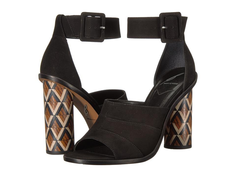 B Brian Atwood - Brady (Black Nubuck) Women's Shoes