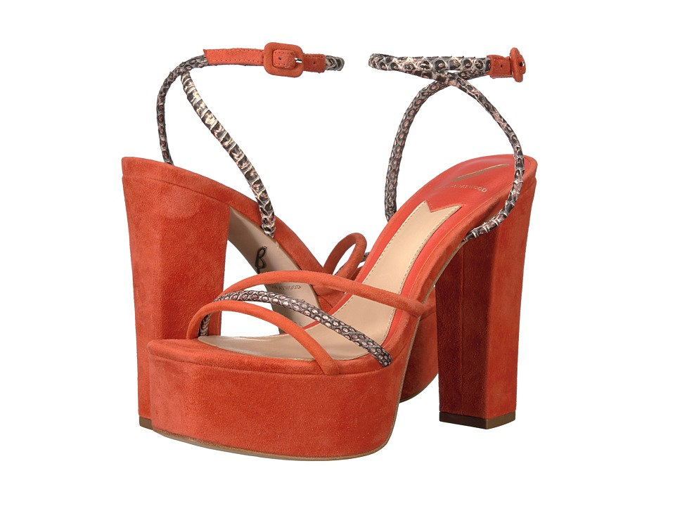B Brian Atwood - Gigi (Red Multi Suede) Women's Shoes