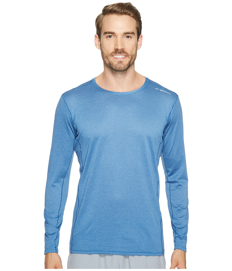 Brooks - Ghost Long Sleeve (Heather Bay) Men's Long Sleeve Pullover