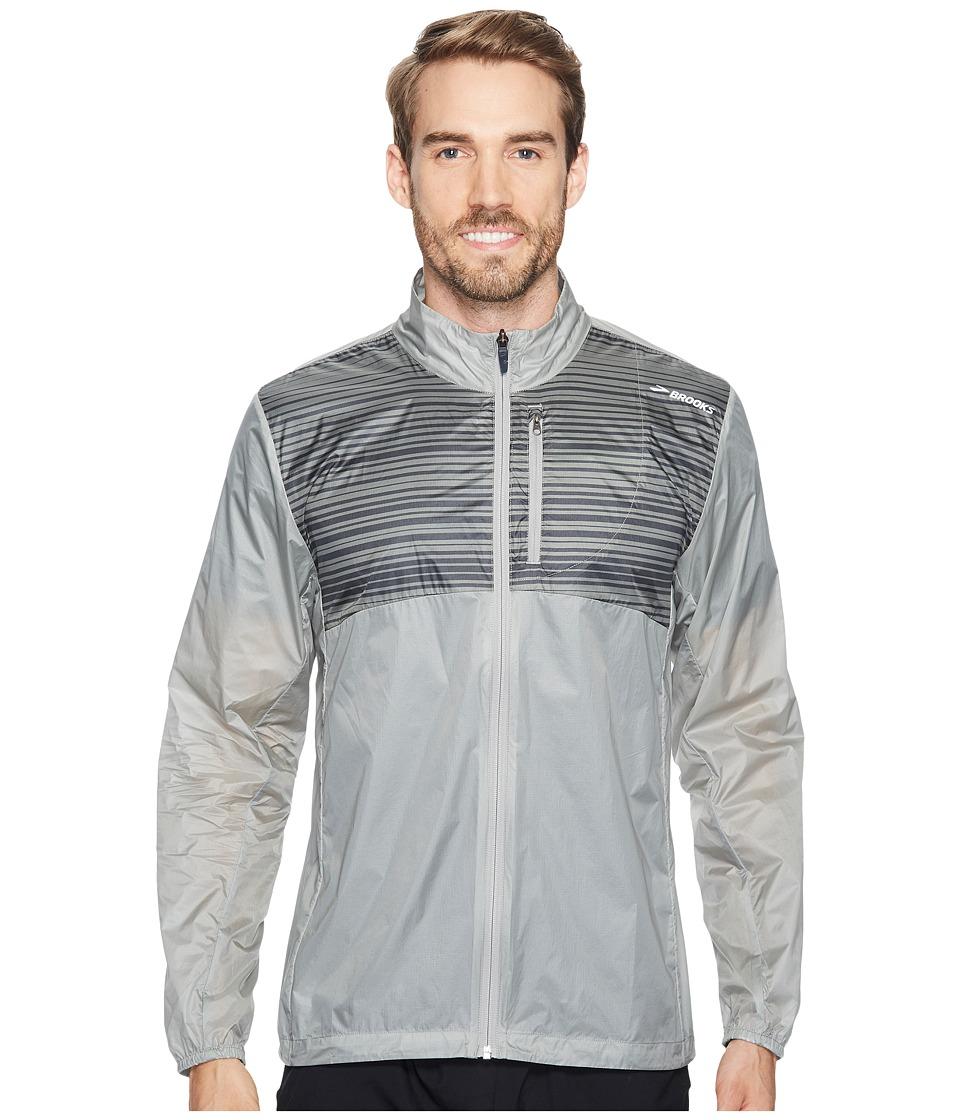 Brooks - LSD Jacket (Oyster/Asphalt Stripe) Men's Coat
