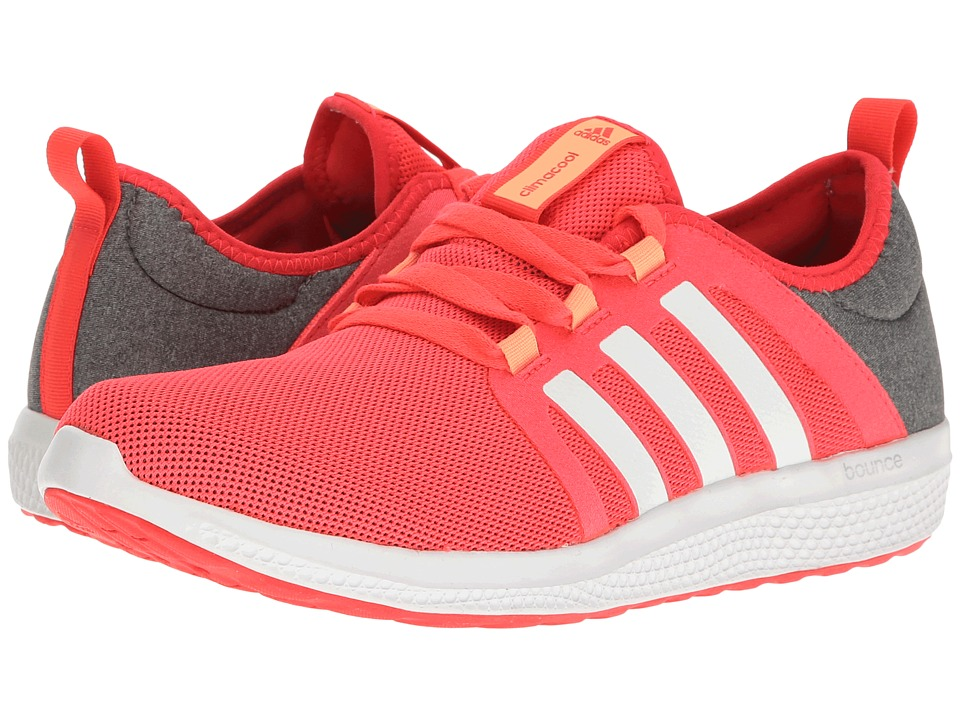 adidas - Fresh Bounce W Prints (Core Heather/White/Shock Red) Women's Shoes