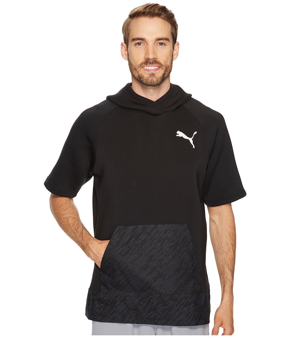PUMA - Energy Short Sleeve Hoodie (PUMA Black) Men's Sweatshirt