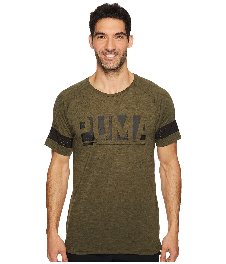 PUMA - Raglan Energy Tee (Olive Night Heather) Men's T Shirt
