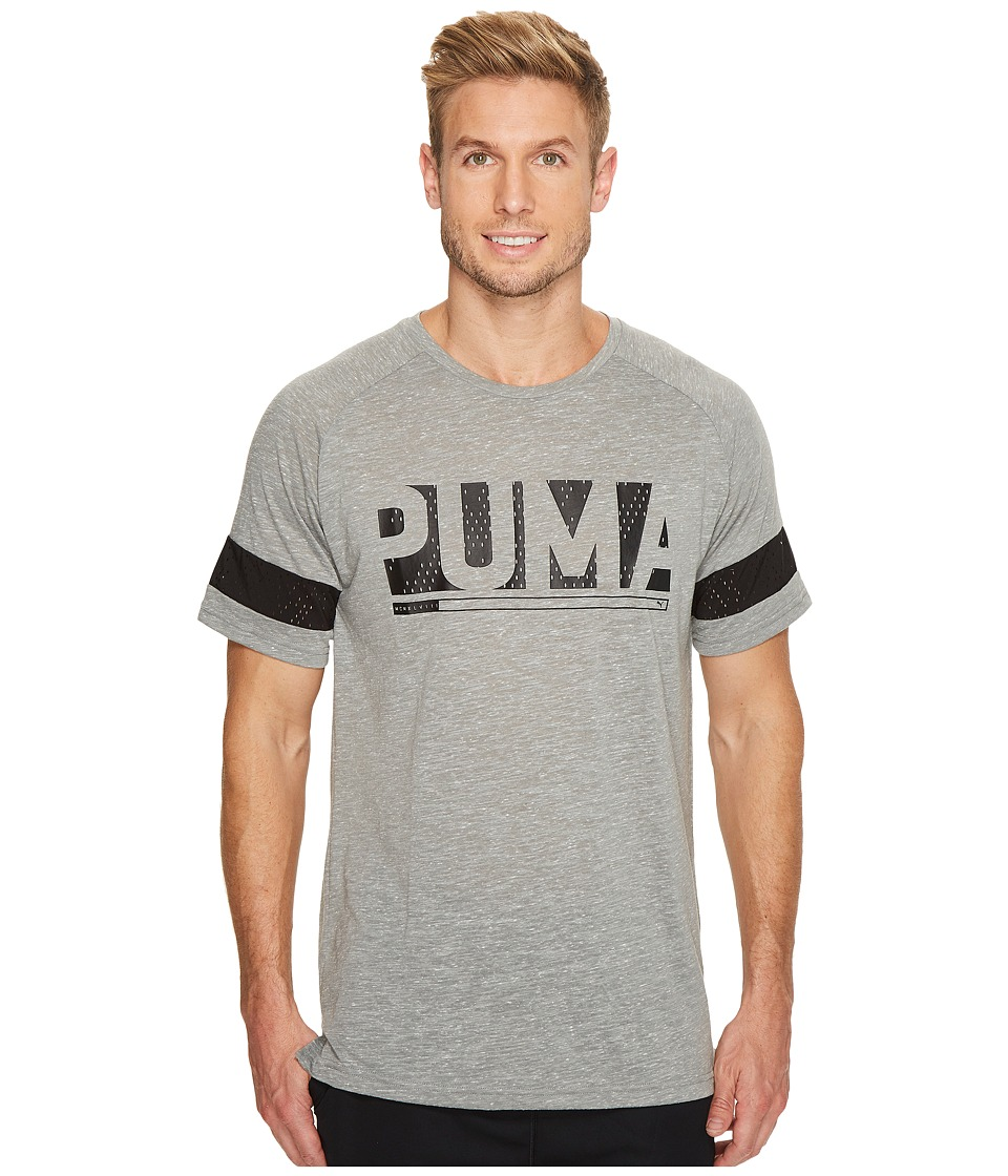 PUMA - Raglan Energy Tee (Lapis Blue Heather) Men's T Shirt