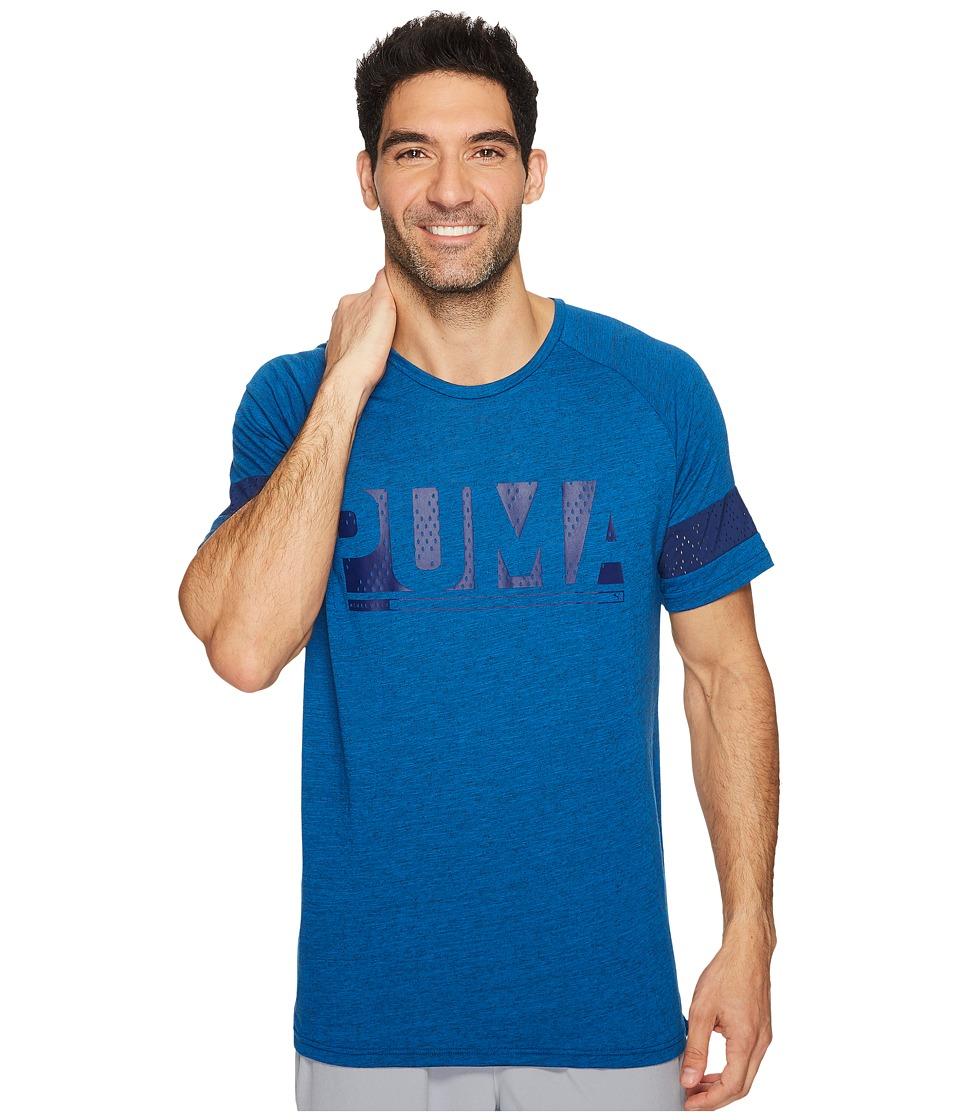 PUMA - Raglan Energy Tee (Lapis Blue Heather) Men's T Shirt