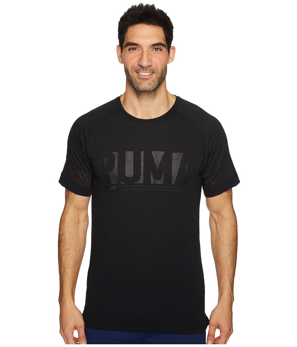 PUMA - Raglan Energy Tee (PUMA Black Heather) Men's T Shirt