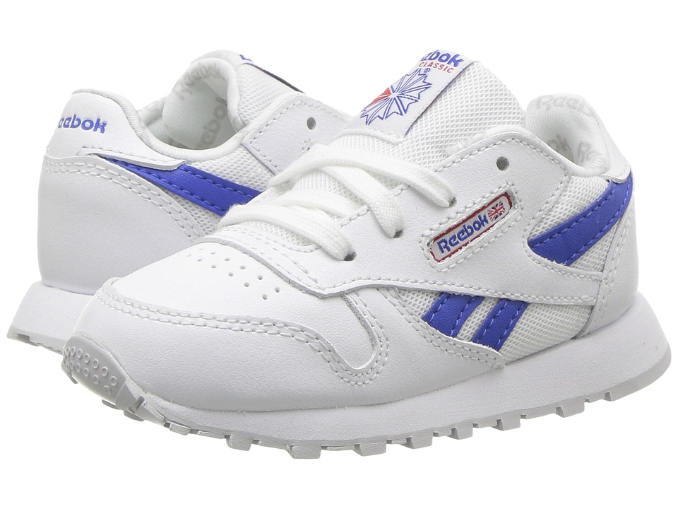 Reebok Kids - Classic Leather Switch Out (Toddler) (White/Vital Blue/Primal Red/Light Solid Grey) Kids Shoes