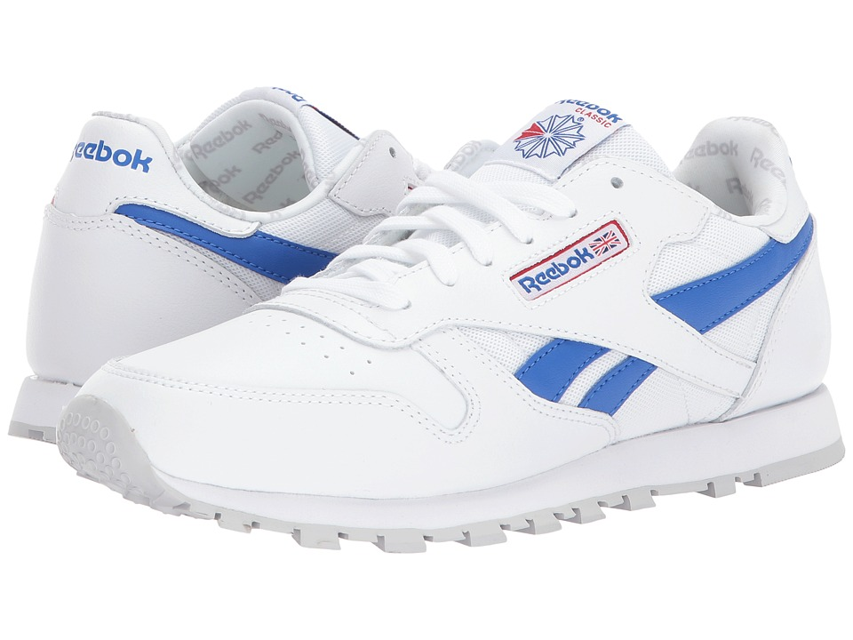 Reebok Kids Classic Leather Switch Out (Big Kid) (White/Vital Blue/