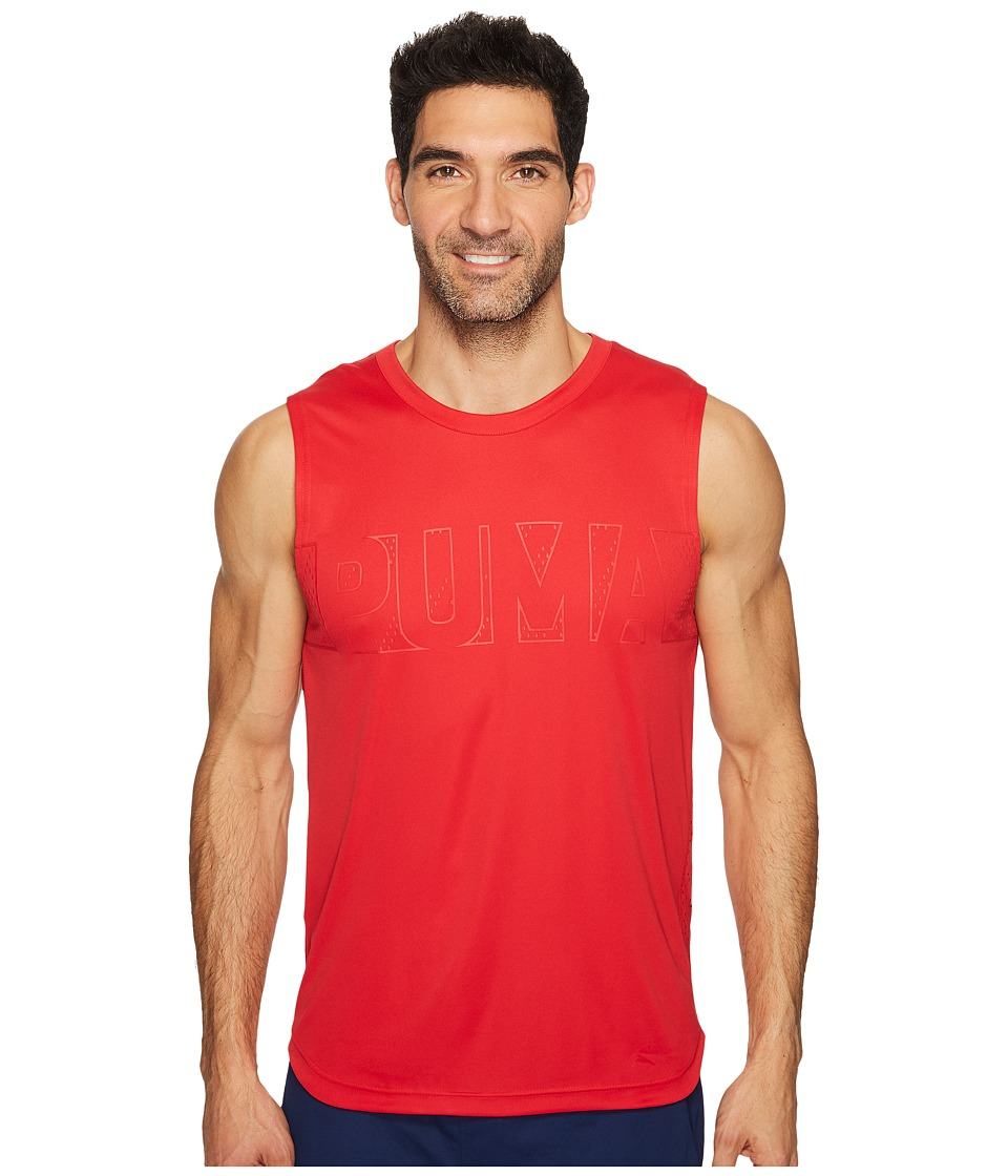 PUMA - Energy Sleeveless Tee (Toreador) Men's Sleeveless