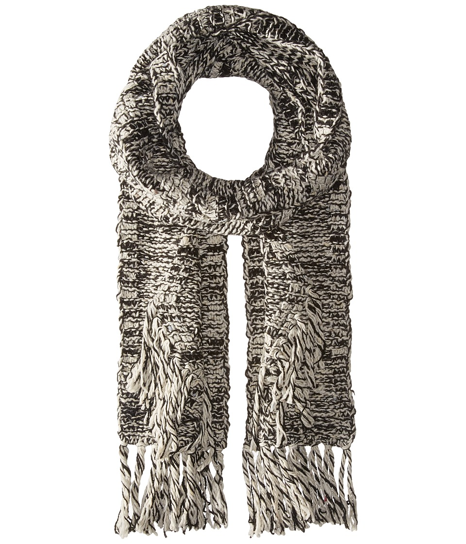 Polo Ralph Lauren - Chenille Diamond Aran Scarf (Black/Cream) Scarves