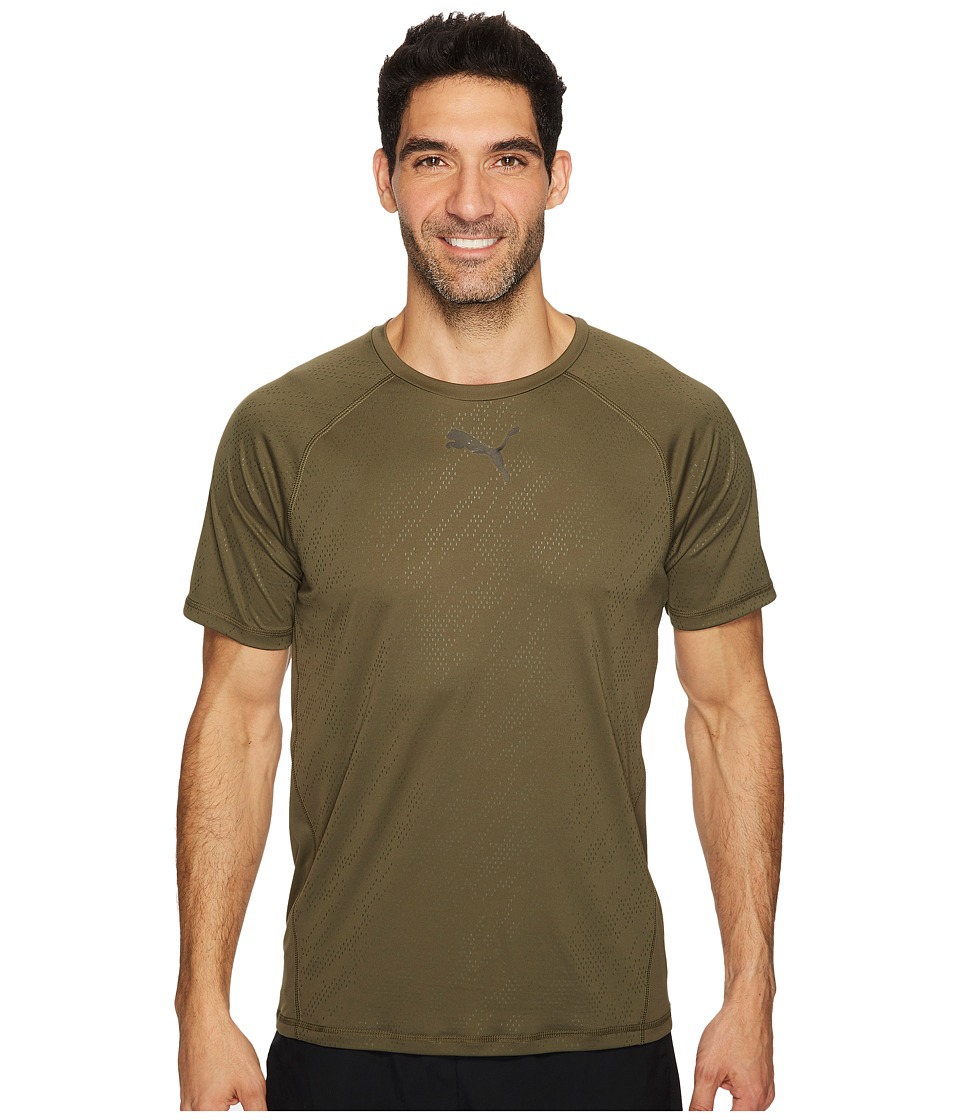 PUMA Vent Short Sleeve Tee (Olive Night) Men