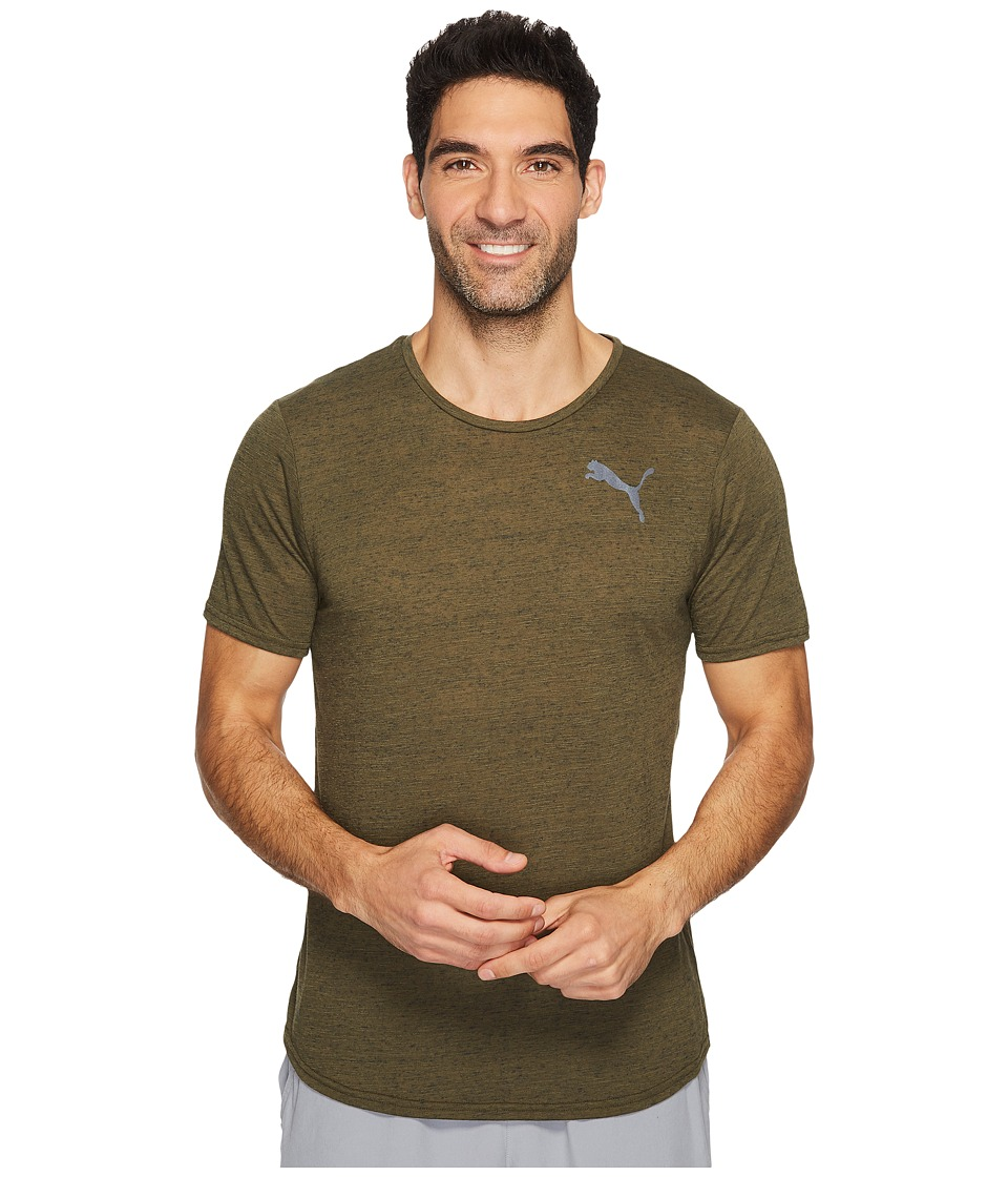 PUMA - Dri-Release Novelty Tee (Olive Night Heather) Men's T Shirt