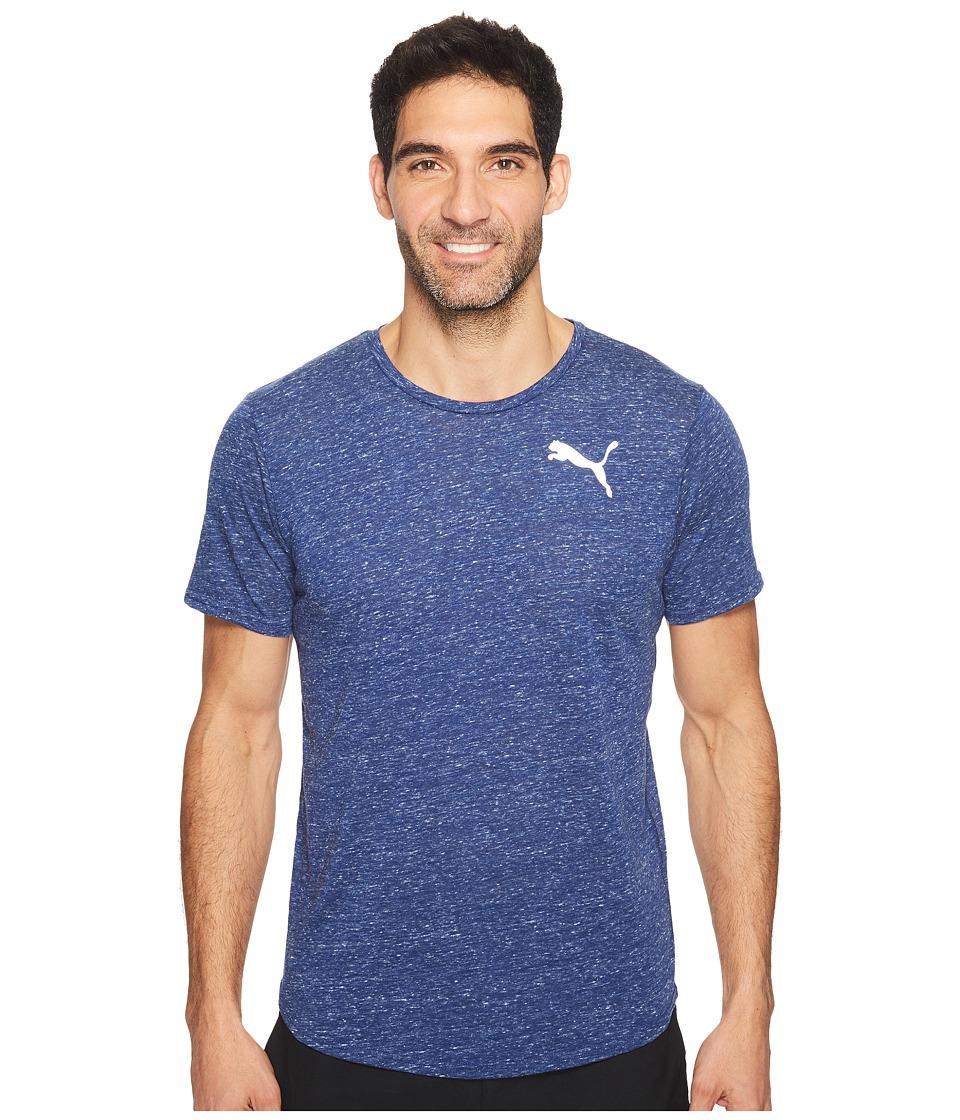 PUMA - Dri-Release Novelty Tee (Blue Depths Heather) Men's T Shirt