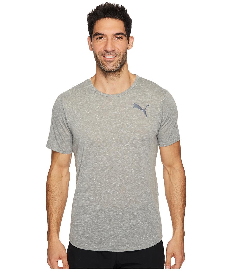 PUMA - Dri-Release Novelty Tee (Medium Gray Heather) Men's T Shirt