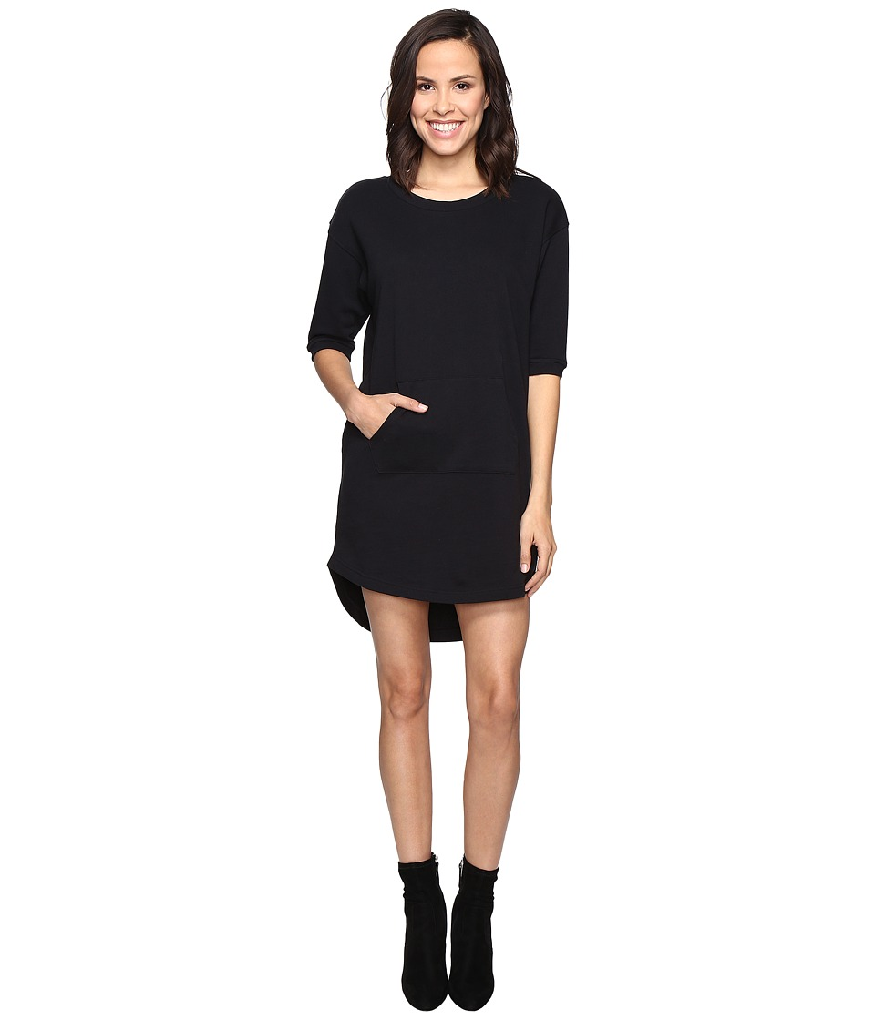 Alternative - Lightweight French Terry Street Cred Dress (True Black) Women's Dress