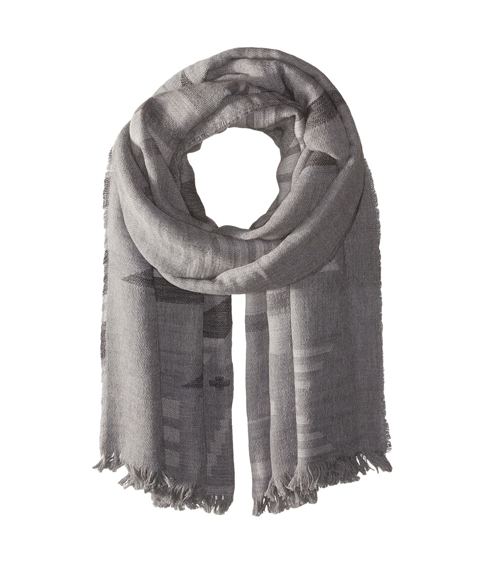 Polo Ralph Lauren - Lightweight Camel Beacon Wrap (Grey Beacon) Scarves