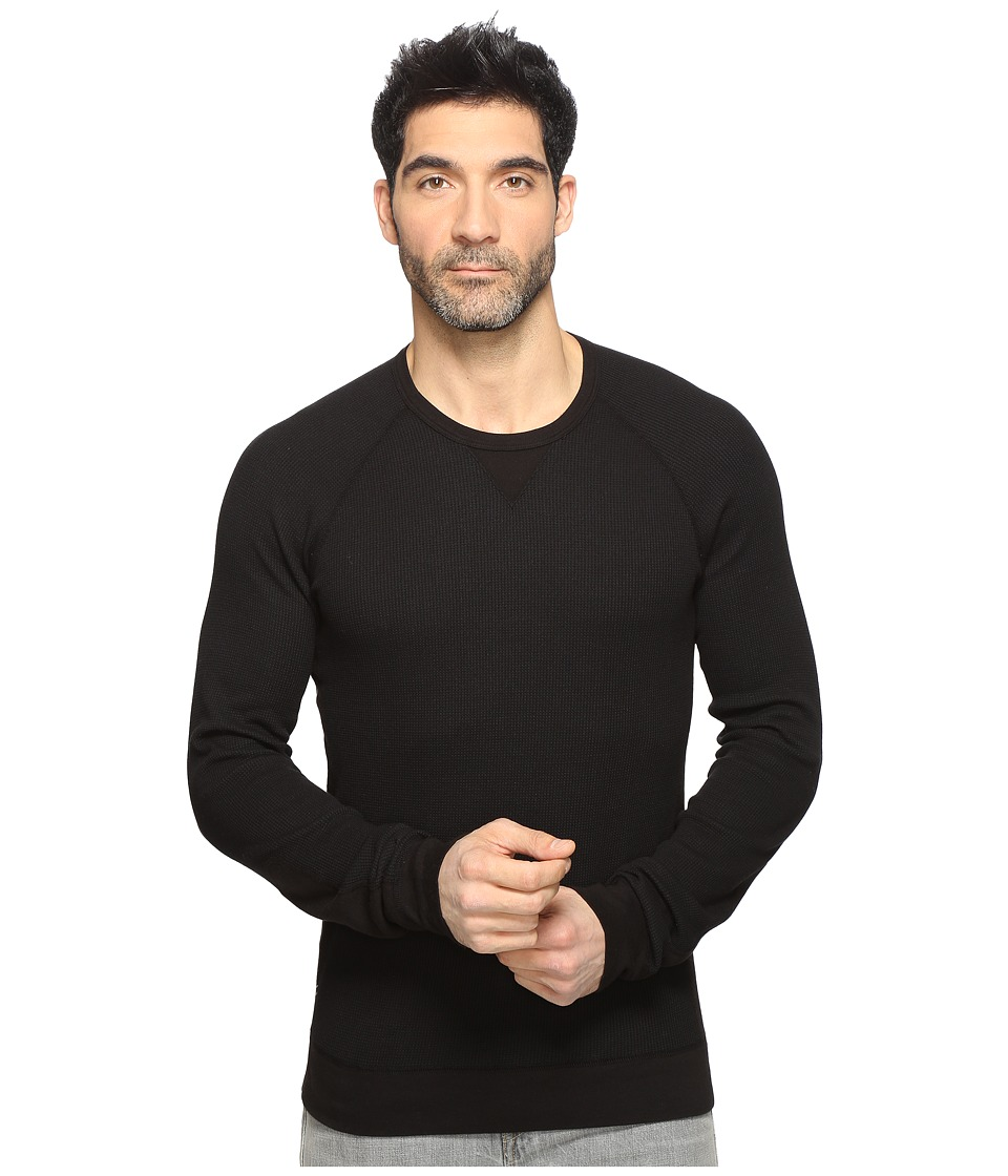 Splendid Mills - Thermal Crew (Black) Men's Clothing