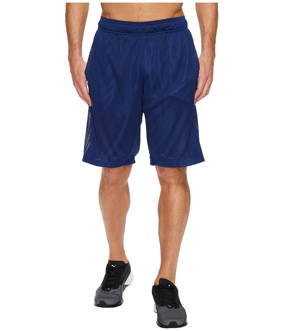 PUMA - Mesh Cat Shorts (Blue Depths) Men's Shorts