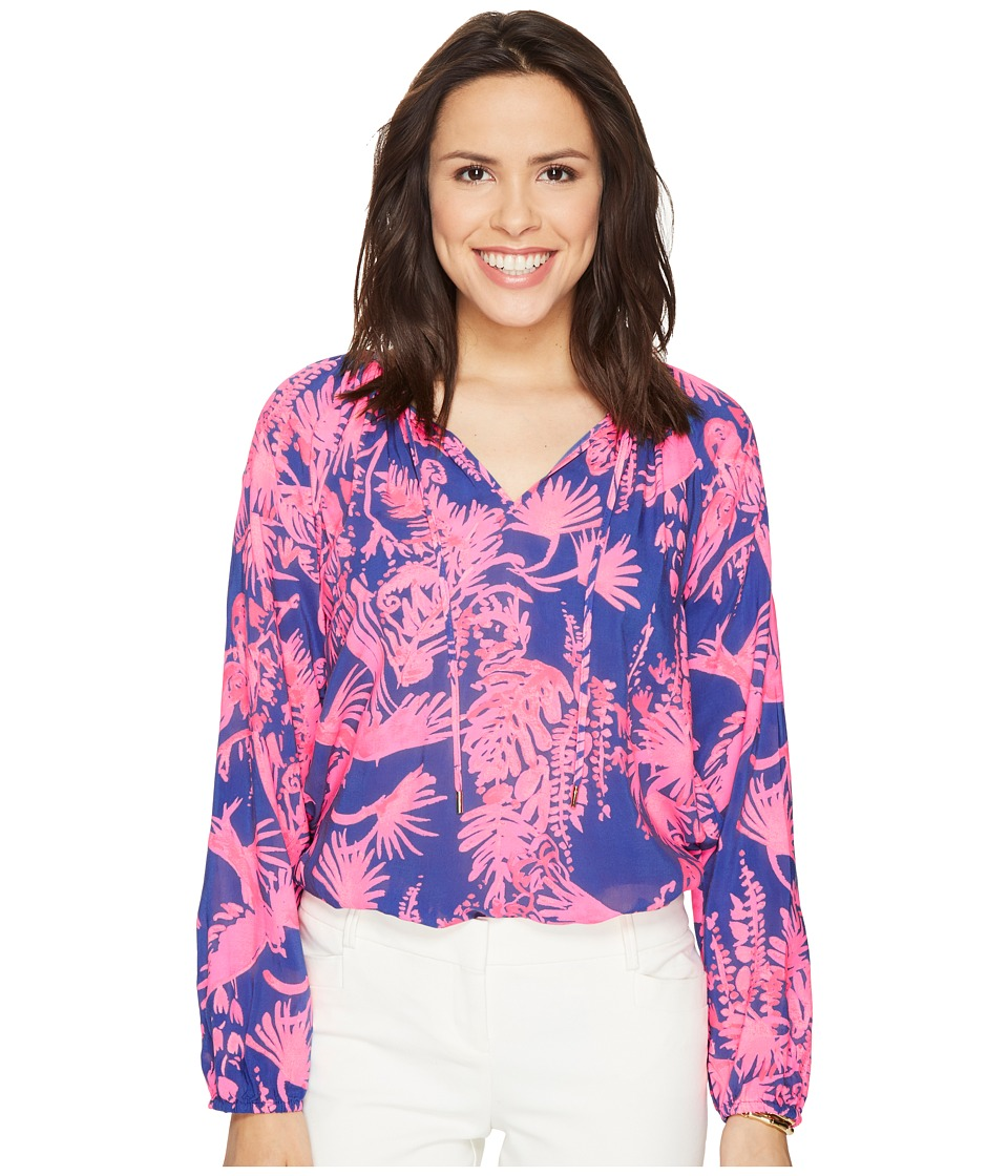 Lilly Pulitzer - Willa Top (Serene Blue Tippy Top) Women's Clothing