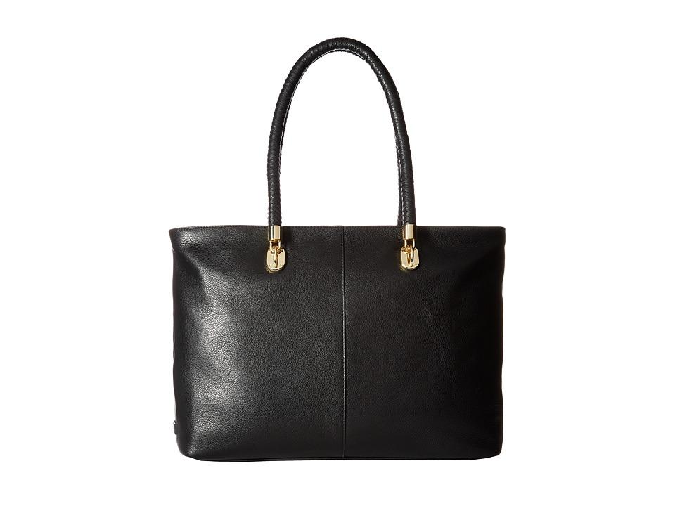 Cole Haan - Benson Large Top Zip Tote (Black) Tote Handbags