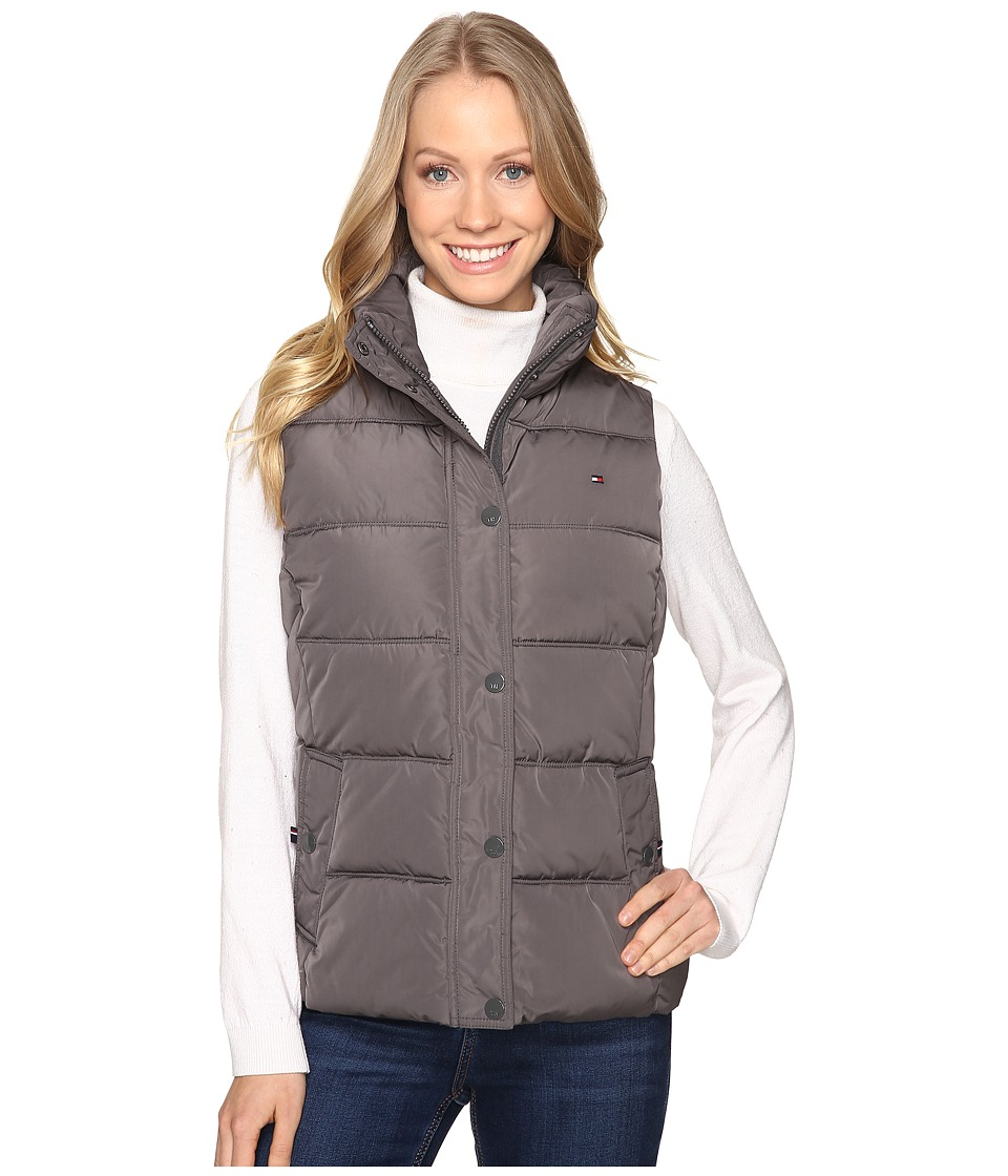 Tommy Hilfiger - Poly Zip Vest (Eiffel Grey) Women's Vest
